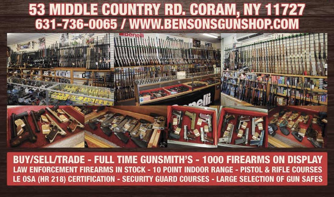 Welcome To Bensons Gun Shop Since 1974