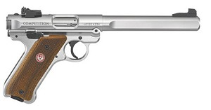 "RUGER MKIV .22LR COMPETITION 6.8"" BBL AS SS"